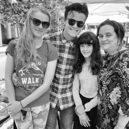 Edie, Noah, Nel, and Justine