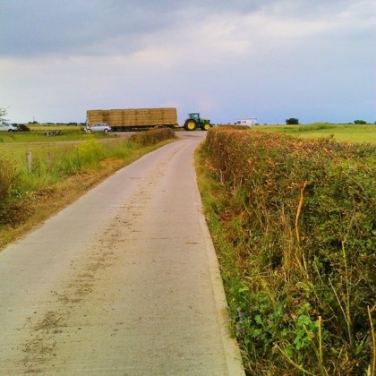 Lower Rd Sheppey ahead - a very busy road, not for walking