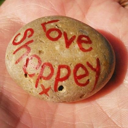 A gift from Laurie - my very own Love Sheppey x stone