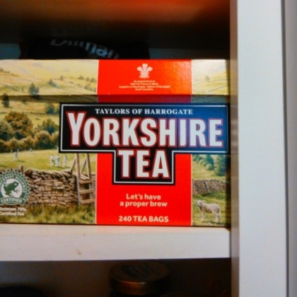 Bliss! Yorkshire tea - again!