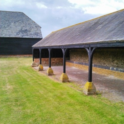 The Linhay, behind the barn